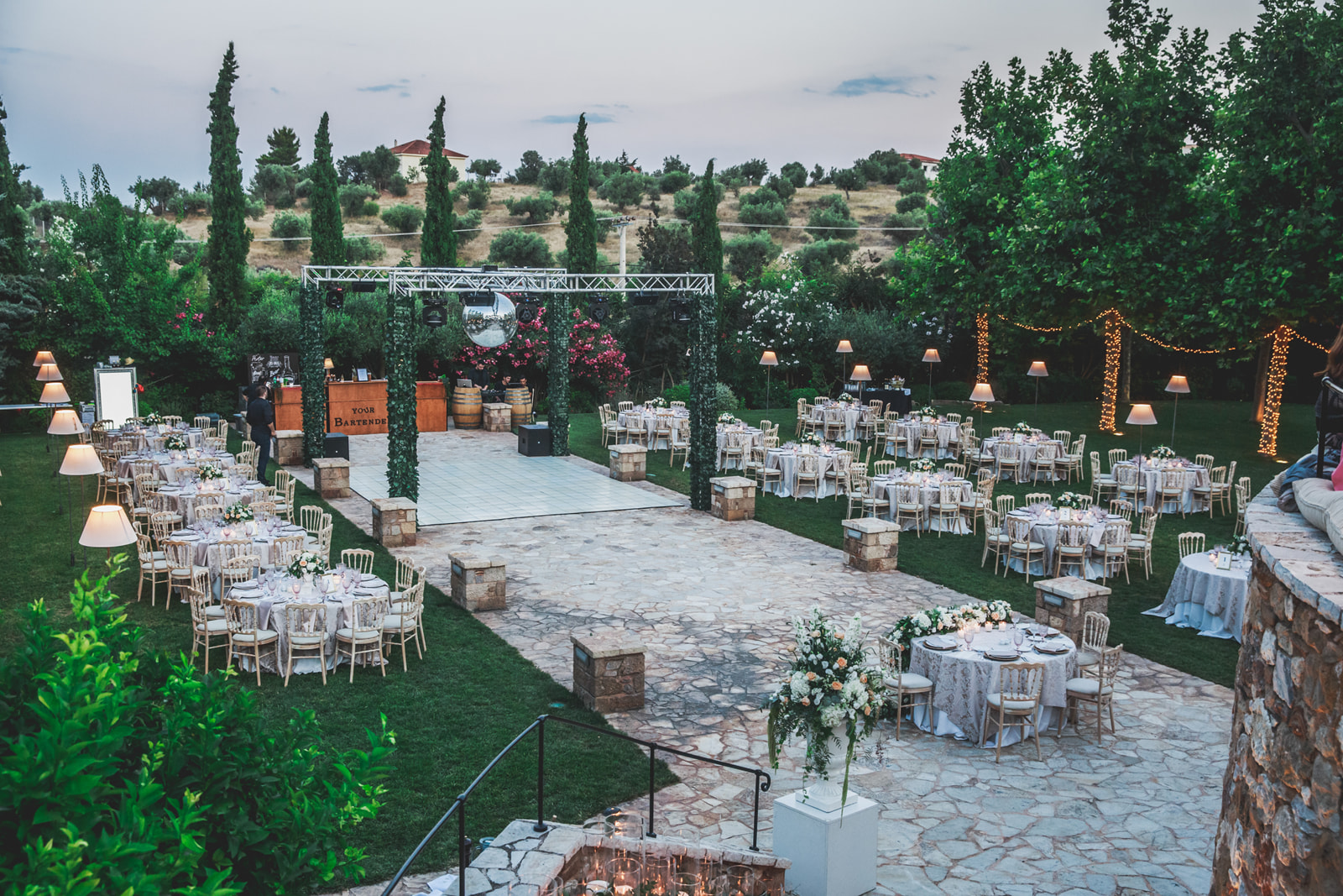 The dream wedding of George and Giouli gallery image 6